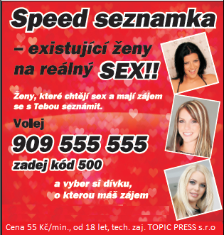 Sex po telefonu - Speed seznamka